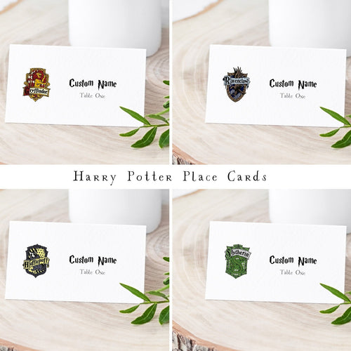 harry potter place cards