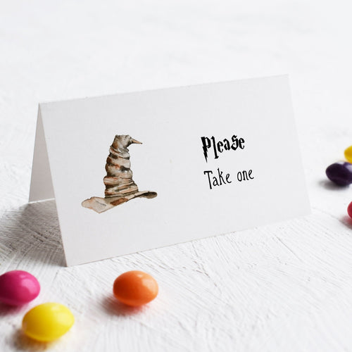 Sorting Hat place cards