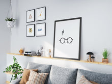Load image into Gallery viewer, Harry Potter Scar Poster Printable