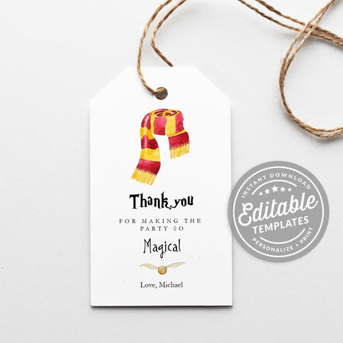 gryffindor scarf favor tags