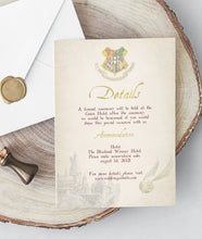 Load image into Gallery viewer, hogwarts details card