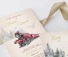 Load image into Gallery viewer, hogwarts wedding invitation