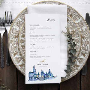 wizard wedding menu