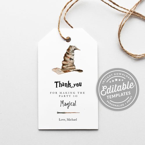 sorting hat favor tags