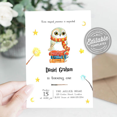 baby owl invitation
