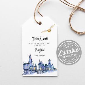 hogwarts gift tags