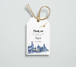 hogwarts thank you tags