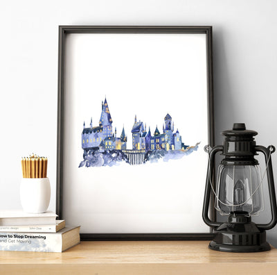 hogwarts wall art