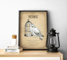 Load image into Gallery viewer, Hedwig Poster | Harry Potter Owl Poster Digital