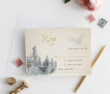 Load image into Gallery viewer, Harry Potter Wedding Invitation Set | Fully Editable Text