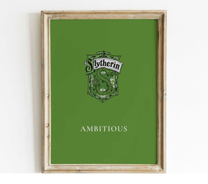slytherin house poster