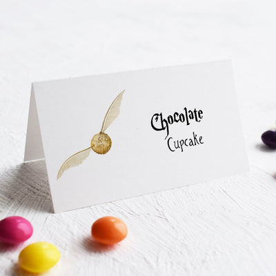Golden Snitch place cards