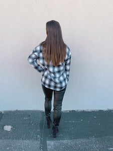 Black and White Flannel Top