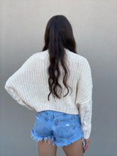 Load image into Gallery viewer, Cream Mock Neck Crop Sweater