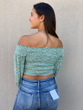 Load image into Gallery viewer, Smocked Polka Dot Crop Top