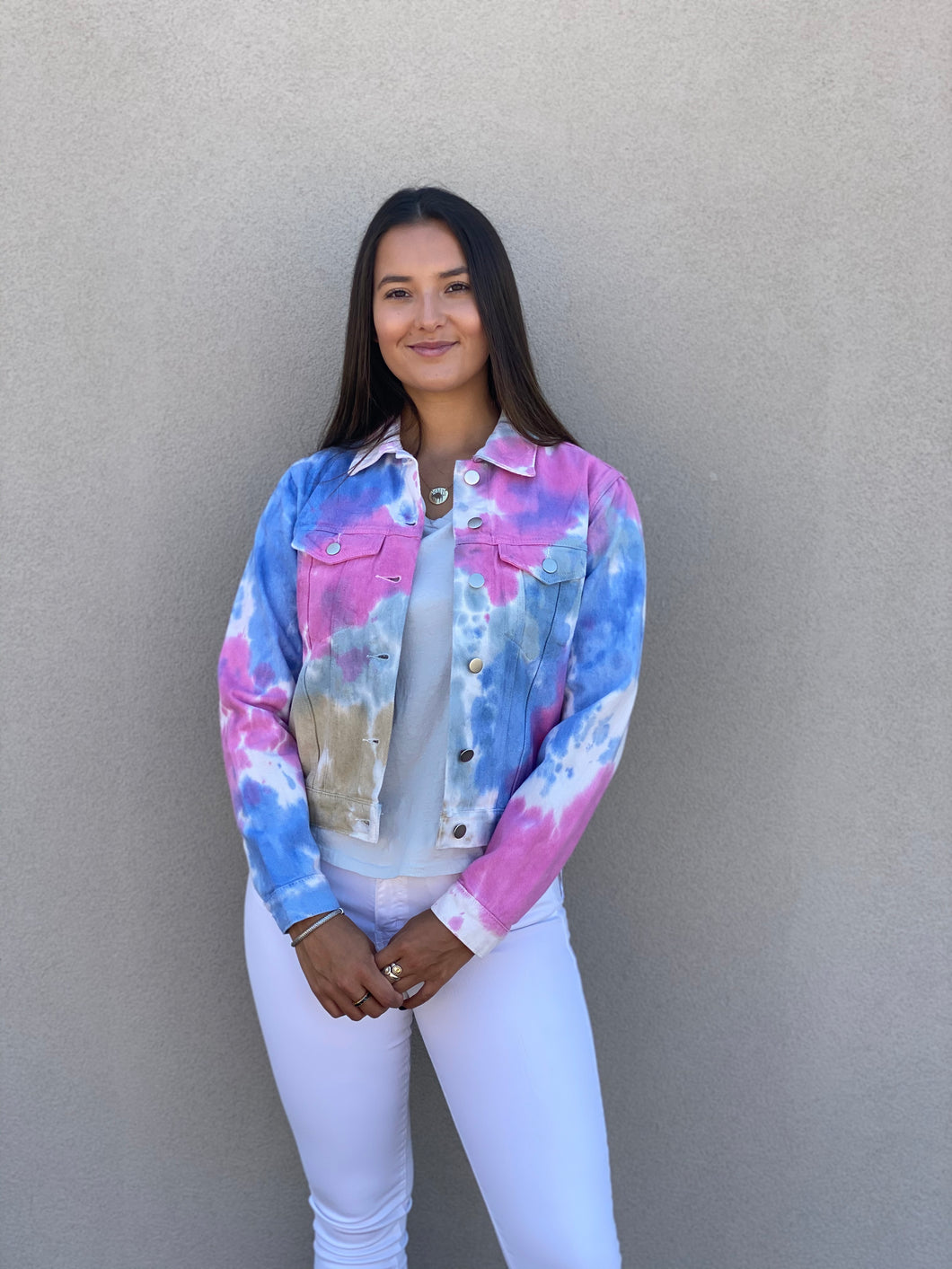 Tie Dye Denim Jacket