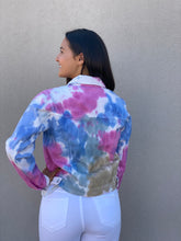Load image into Gallery viewer, Tie Dye Denim Jacket
