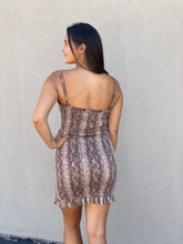 Load image into Gallery viewer, Snakeskin Mini Bodycon Dress