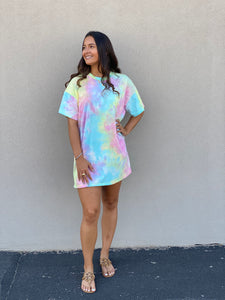 Sherbert Tie Dye T-Shirt Dress