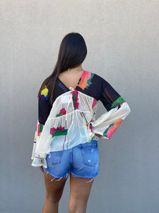 Watercolor Flow Top