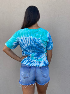 Rock And Roll Tie Dye Tee- Blue