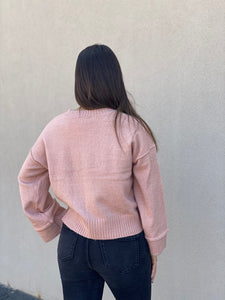 Bell Sleeve Sweater- Blush