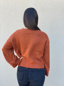 Bell Sleeve Sweater- Rust
