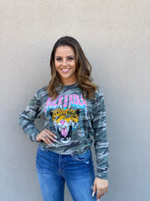 Load image into Gallery viewer, Camo Rock & Roll Cropped Pullover