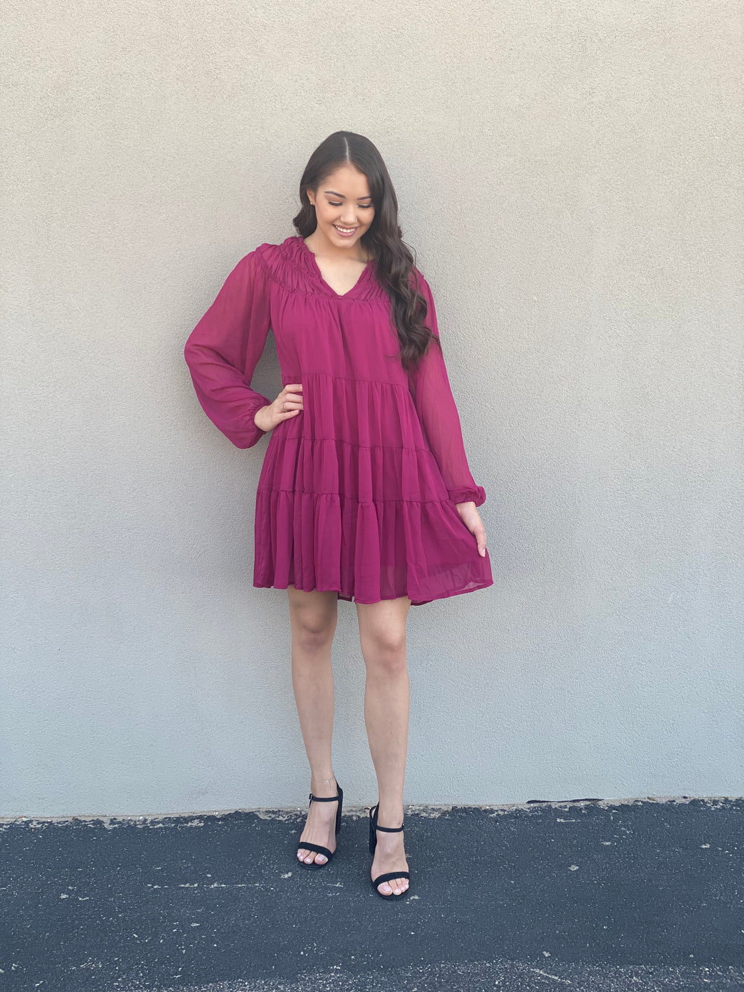 So Berry Fall Dress