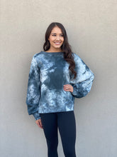 Load image into Gallery viewer, Tie Dye Open Back Pullover- Blue