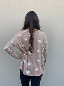 Metallic Star Pullover