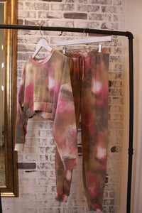 Cropped Tie Dye Lounge Set