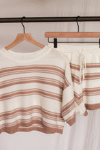 Load image into Gallery viewer, Khaki Stripe Lounge Set