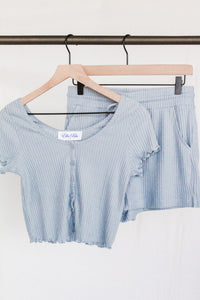 Soft Ribbed Crop Top & Short Set