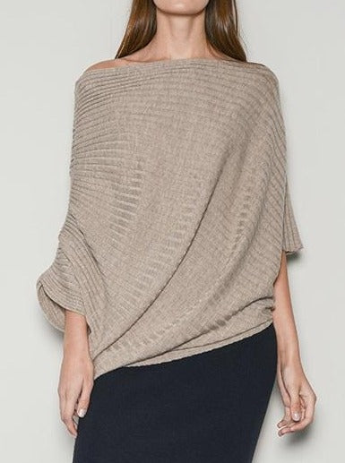 Belinda Rib Cape Top