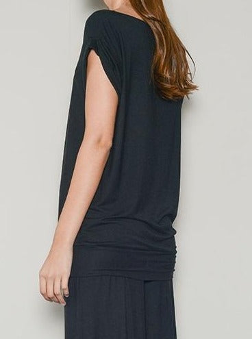 black cannes long t shirt