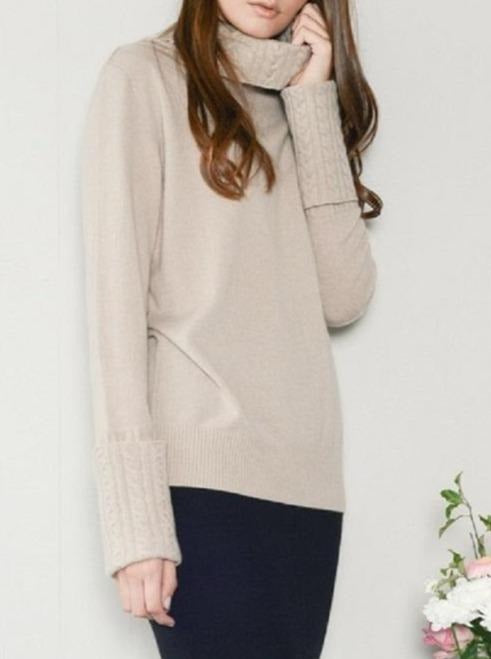 Charlotte Cable Trim Sweater