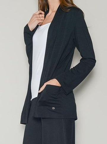 Black loungewear cardigan