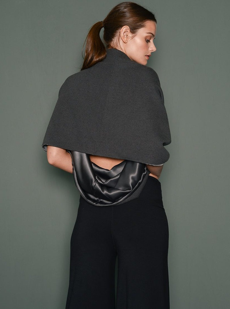 Lara Satin Shrug Scarf