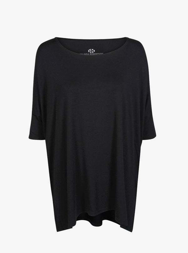 black loungewear oversized t shirt