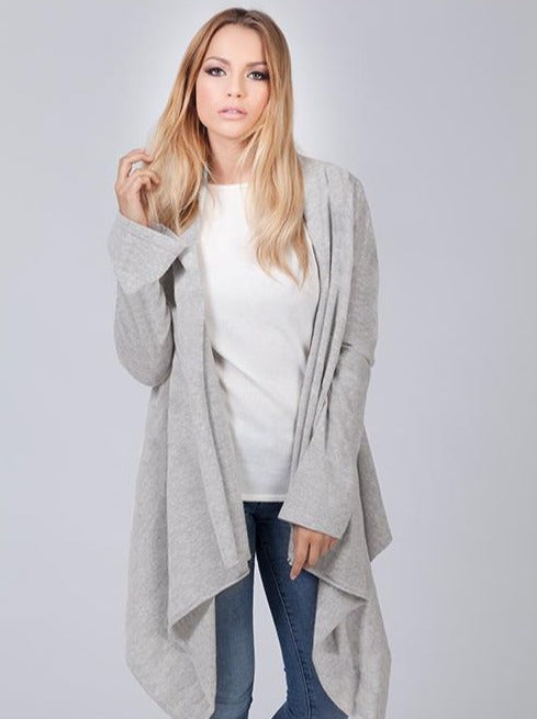marble grey cashmere cardigan