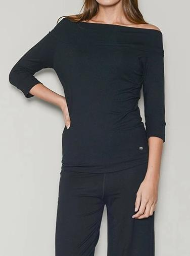 black bardot off shoulder top