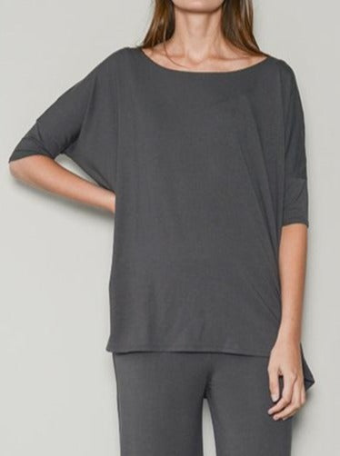 easy relaxed grey loungewear top
