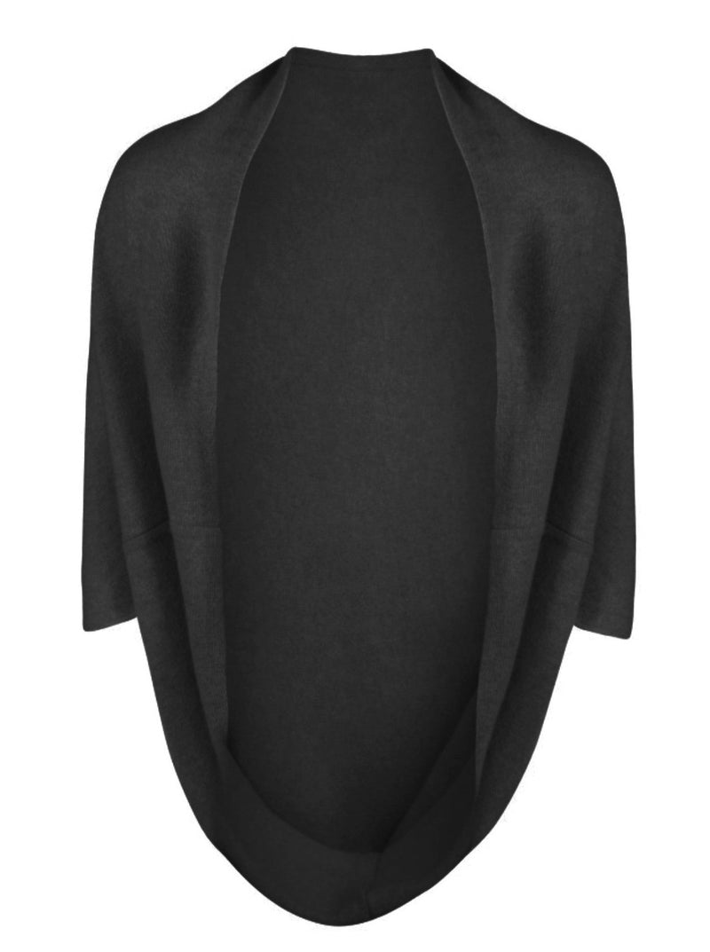 black cashmere wrap / shrug top