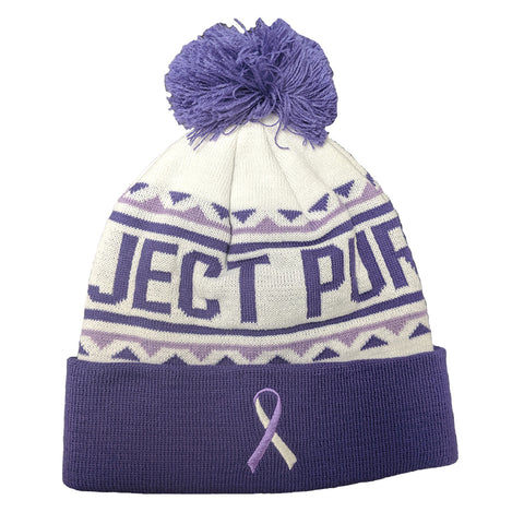 BOCO Project Purple Pom Pom Beanie