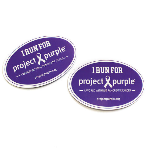 I Run For Project Purple Magnet