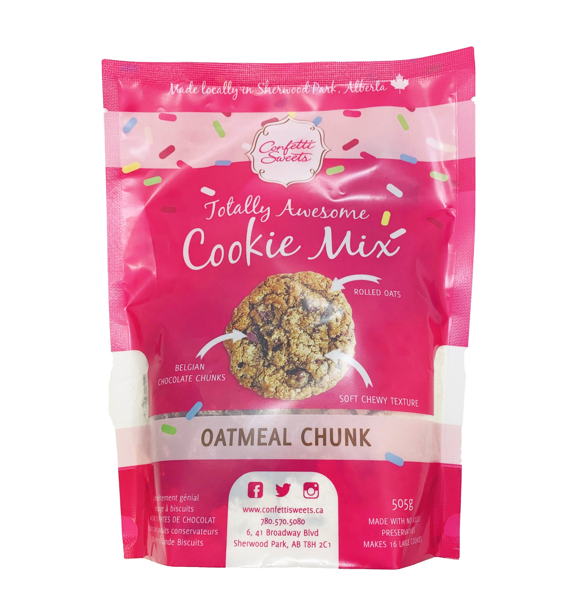 Image of Cookie mix, Oatmeal Chunk. (bakes 16 large cookies)