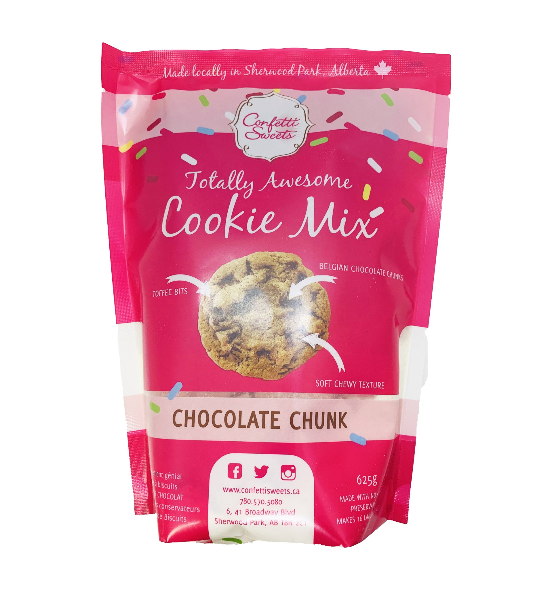 Image of Cookie mix, Chocolate Chunk. (bakes 16 large cookies)