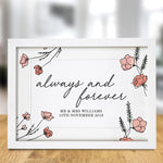 Always & Forever A4 Framed Print