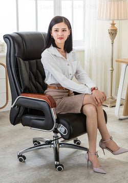 leather reclining office chair lifting